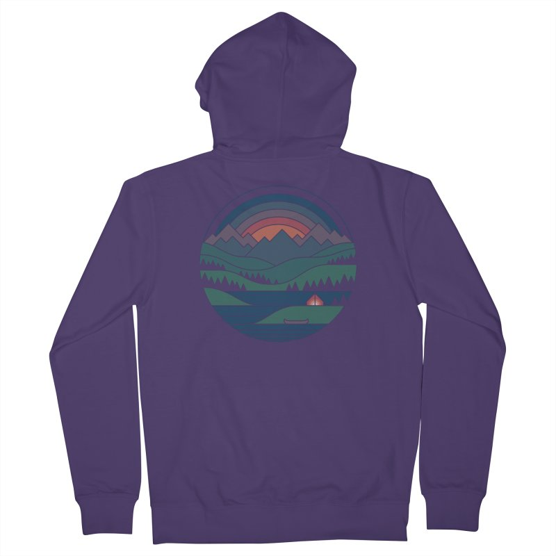 The Lake At Twilight Women's French Terry Zip-Up Hoody by thepapercrane's shop