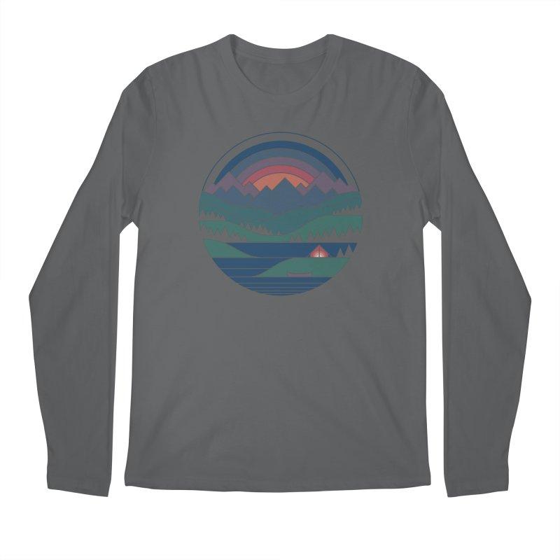The Lake At Twilight Men's Regular Longsleeve T-Shirt by thepapercrane's shop