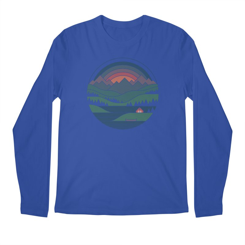 The Lake At Twilight Men's Regular Longsleeve T-Shirt by thepapercrane's shop