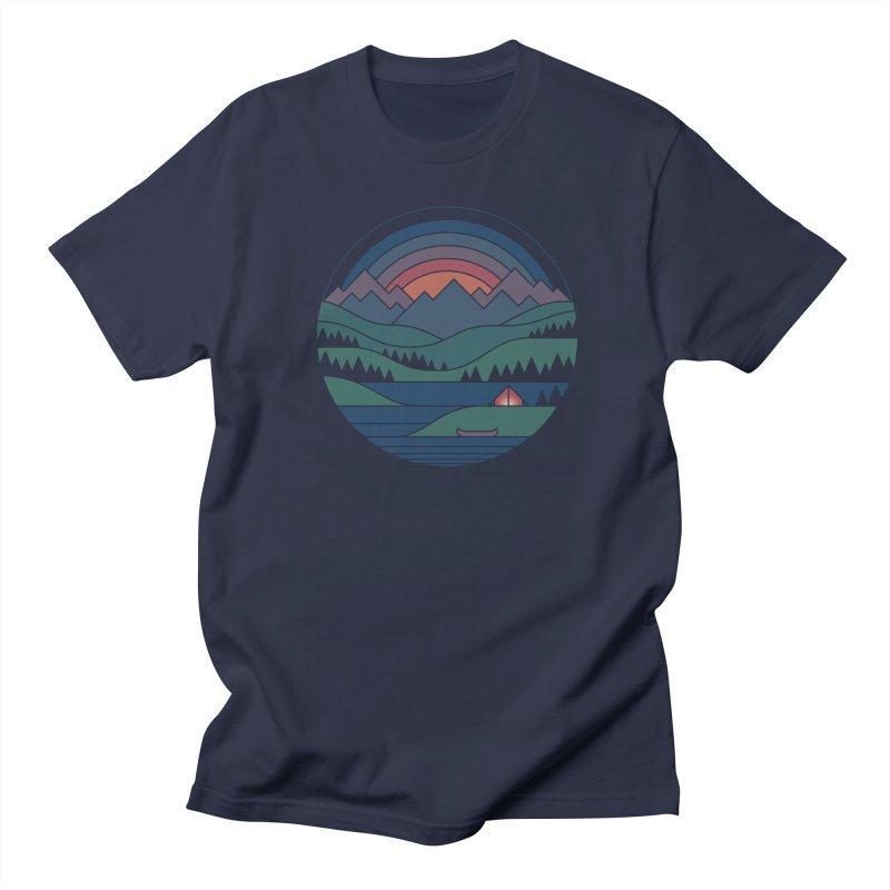 The Lake At Twilight Men's Regular T-Shirt by thepapercrane's shop