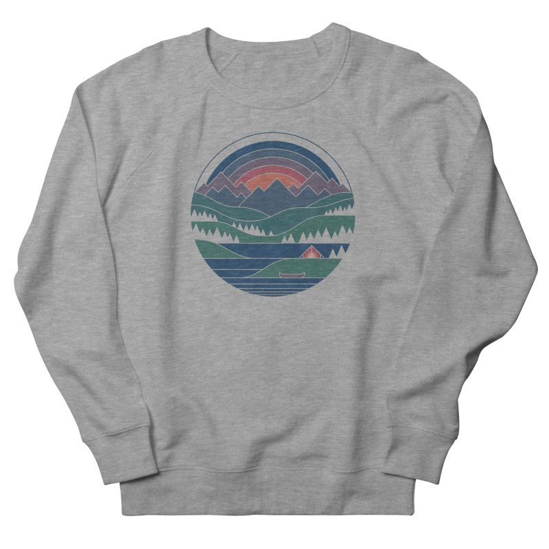 The Lake At Twilight Women's French Terry Sweatshirt by thepapercrane's shop