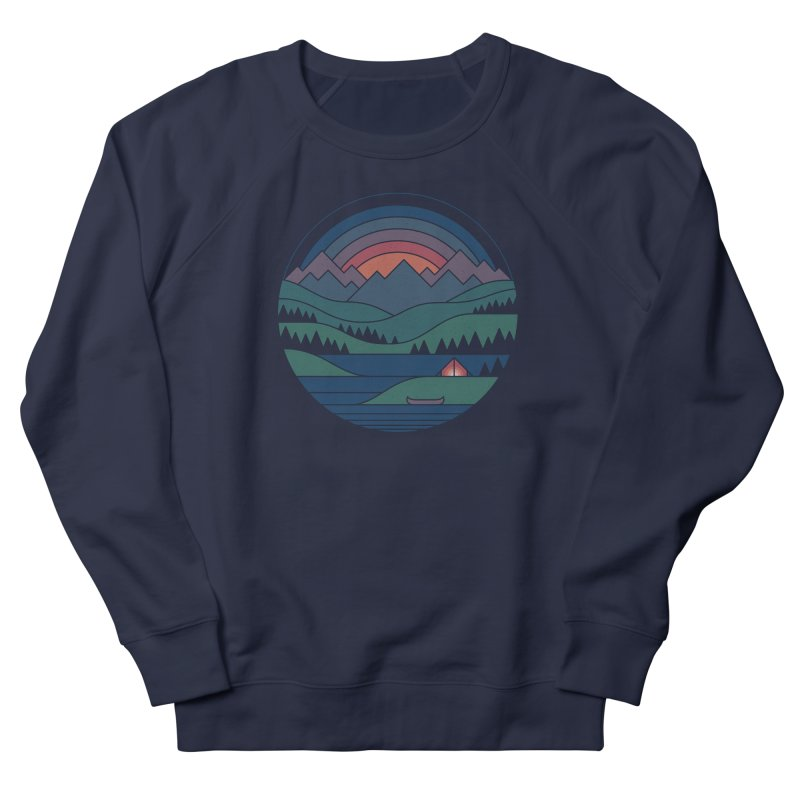 The Lake At Twilight Men's French Terry Sweatshirt by thepapercrane's shop