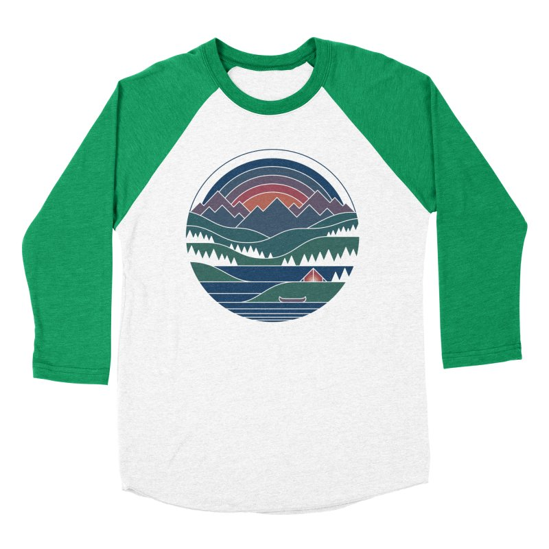 The Lake At Twilight Women's Baseball Triblend Longsleeve T-Shirt by thepapercrane's shop