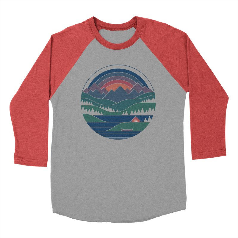The Lake At Twilight Women's Baseball Triblend Longsleeve T-Shirt by thepapercrane's shop