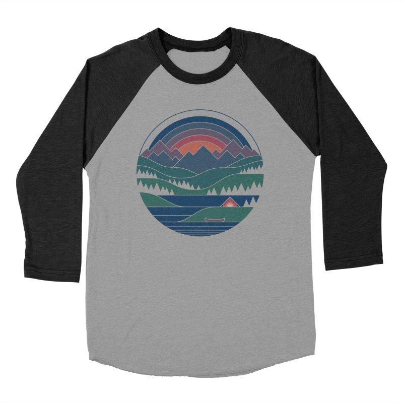 The Lake At Twilight Men's Baseball Triblend Longsleeve T-Shirt by thepapercrane's shop