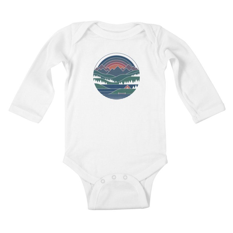 The Lake At Twilight Kids Baby Longsleeve Bodysuit by thepapercrane's shop