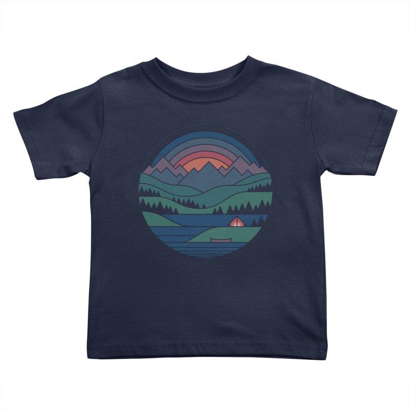 The Lake At Twilight Kids Toddler T-Shirt by thepapercrane's shop