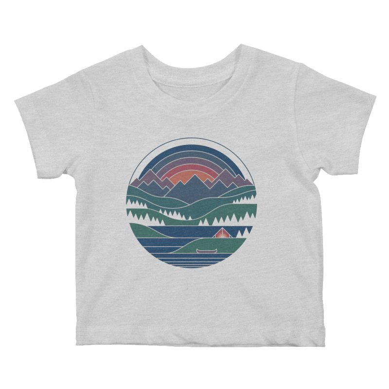 The Lake At Twilight Kids Baby T-Shirt by thepapercrane's shop