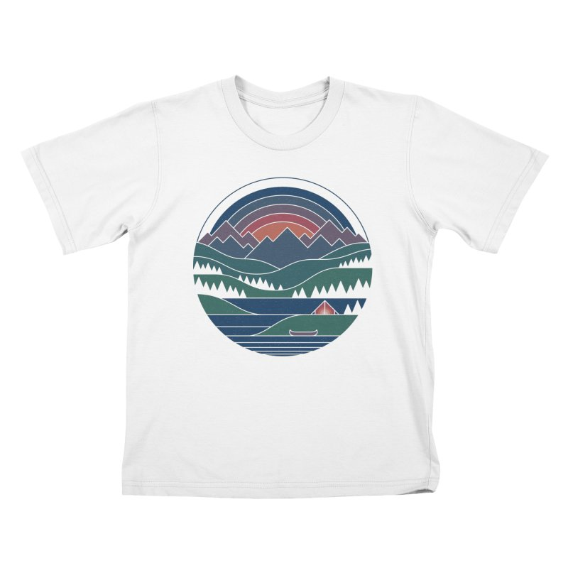 The Lake At Twilight Kids T-Shirt by thepapercrane's shop