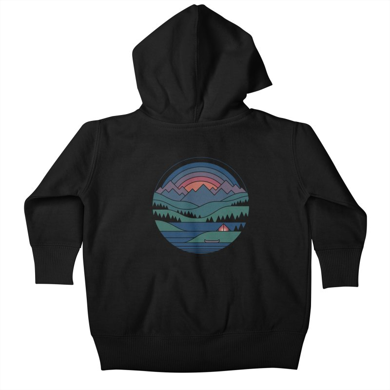 The Lake At Twilight Kids Baby Zip-Up Hoody by thepapercrane's shop