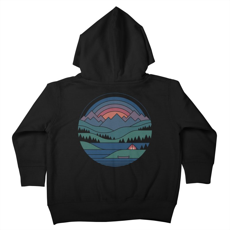 The Lake At Twilight Kids Toddler Zip-Up Hoody by thepapercrane's shop
