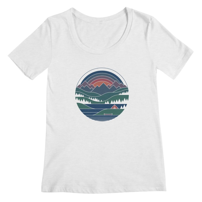 The Lake At Twilight Women's Regular Scoop Neck by thepapercrane's shop
