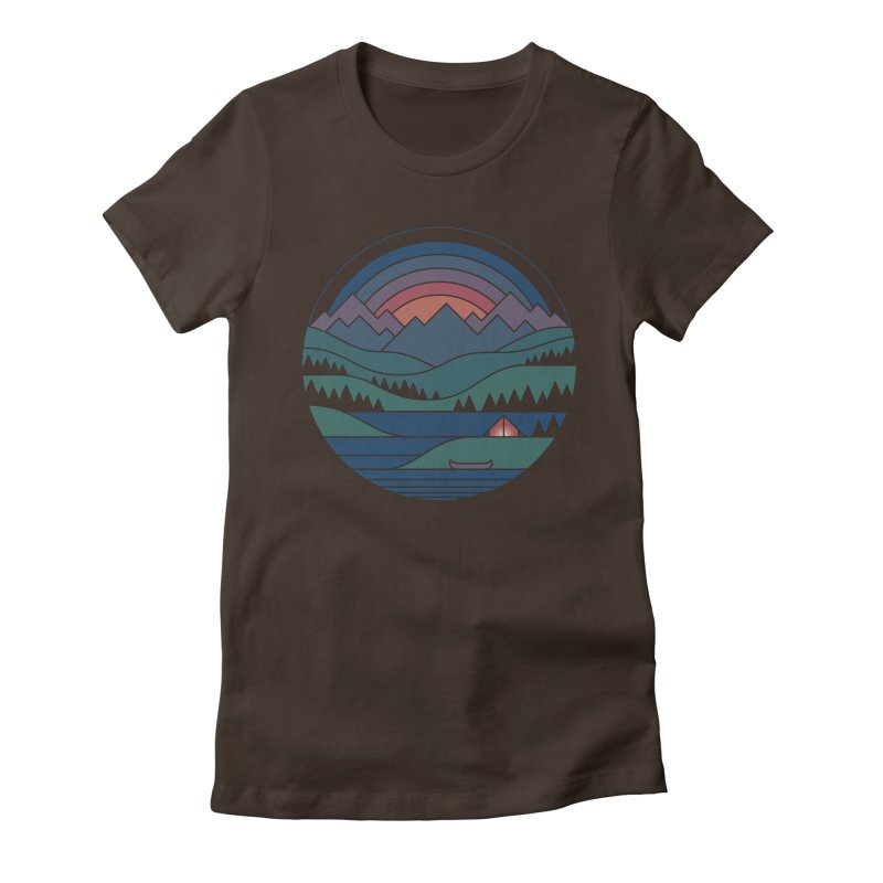 The Lake At Twilight Women's Fitted T-Shirt by thepapercrane's shop