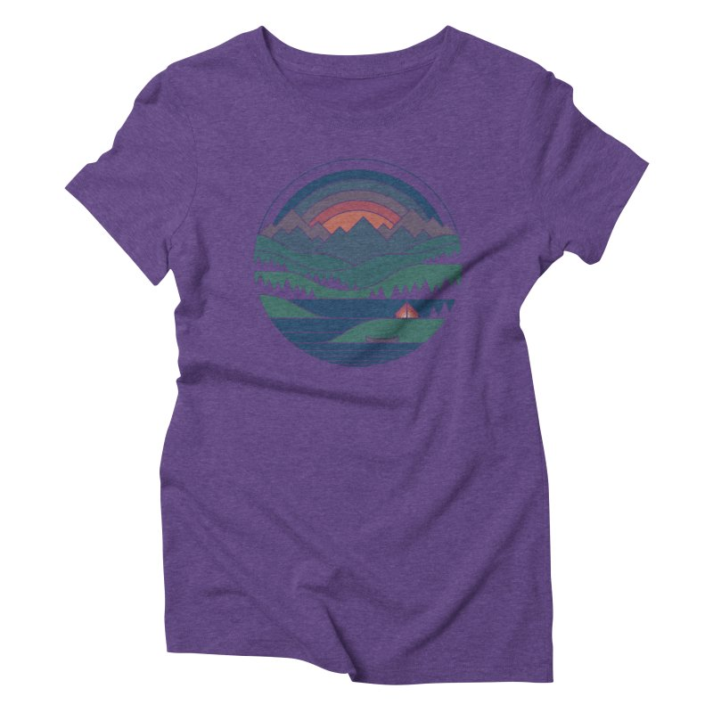 The Lake At Twilight Women's Triblend T-Shirt by thepapercrane's shop