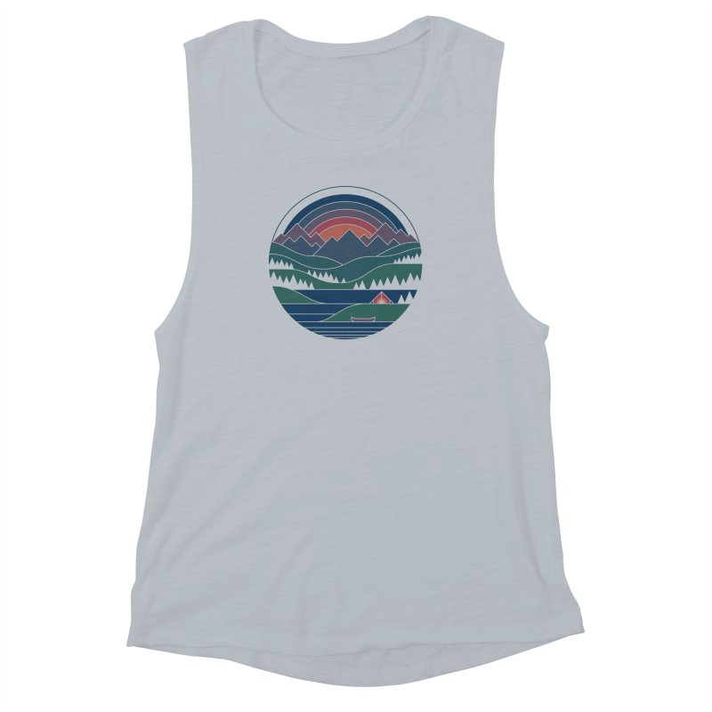 The Lake At Twilight Women's Muscle Tank by thepapercrane's shop