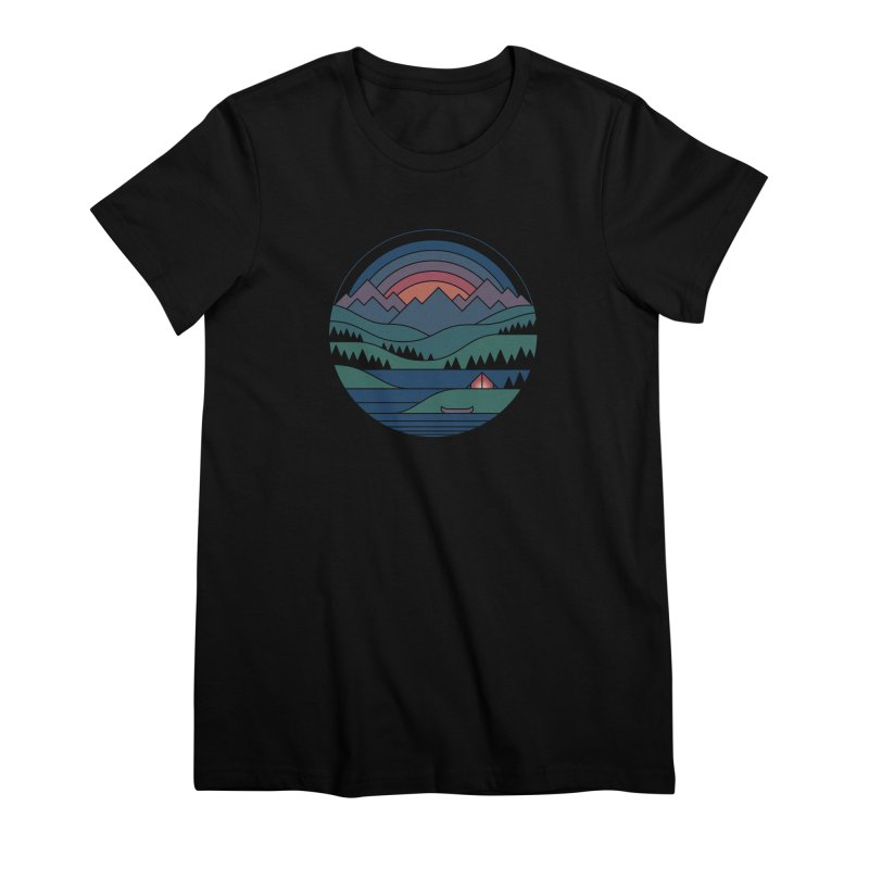 The Lake At Twilight Women's Premium T-Shirt by thepapercrane's shop