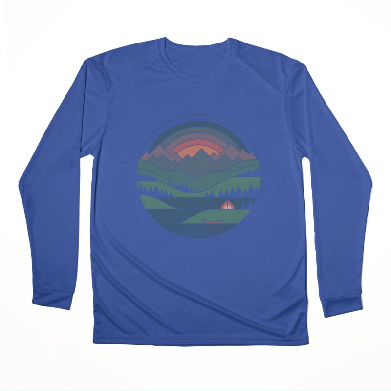 The Lake At Twilight Men's Performance Longsleeve T-Shirt by thepapercrane's shop