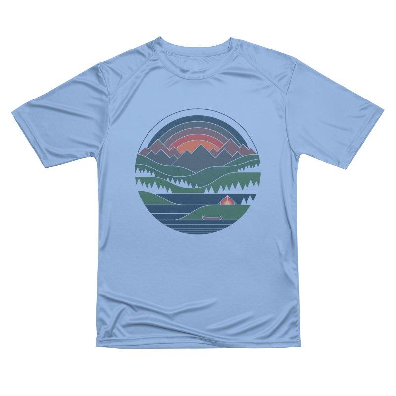The Lake At Twilight Men's Performance T-Shirt by thepapercrane's shop