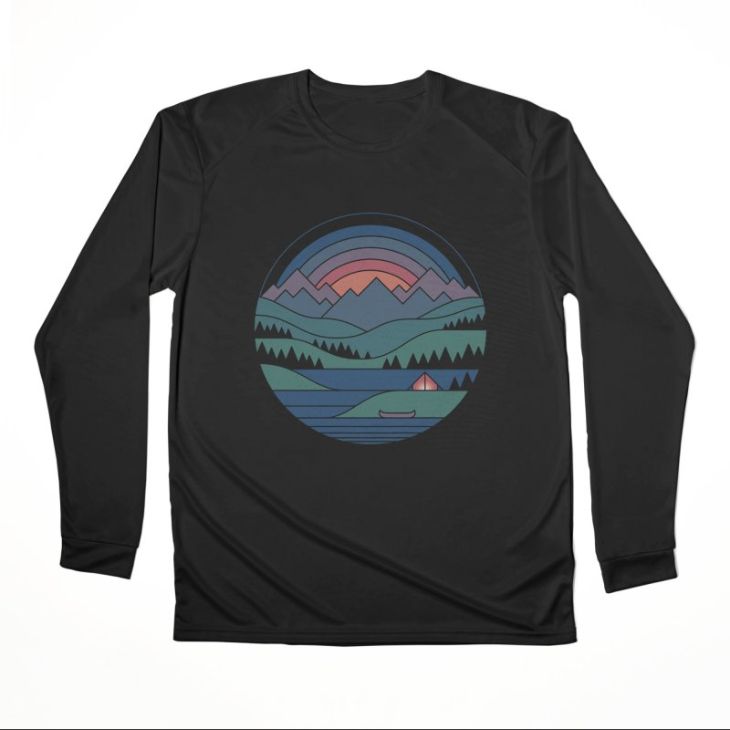 The Lake At Twilight Women's Performance Unisex Longsleeve T-Shirt by thepapercrane's shop