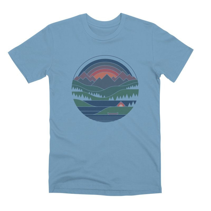 The Lake At Twilight Men's Premium T-Shirt by thepapercrane's shop