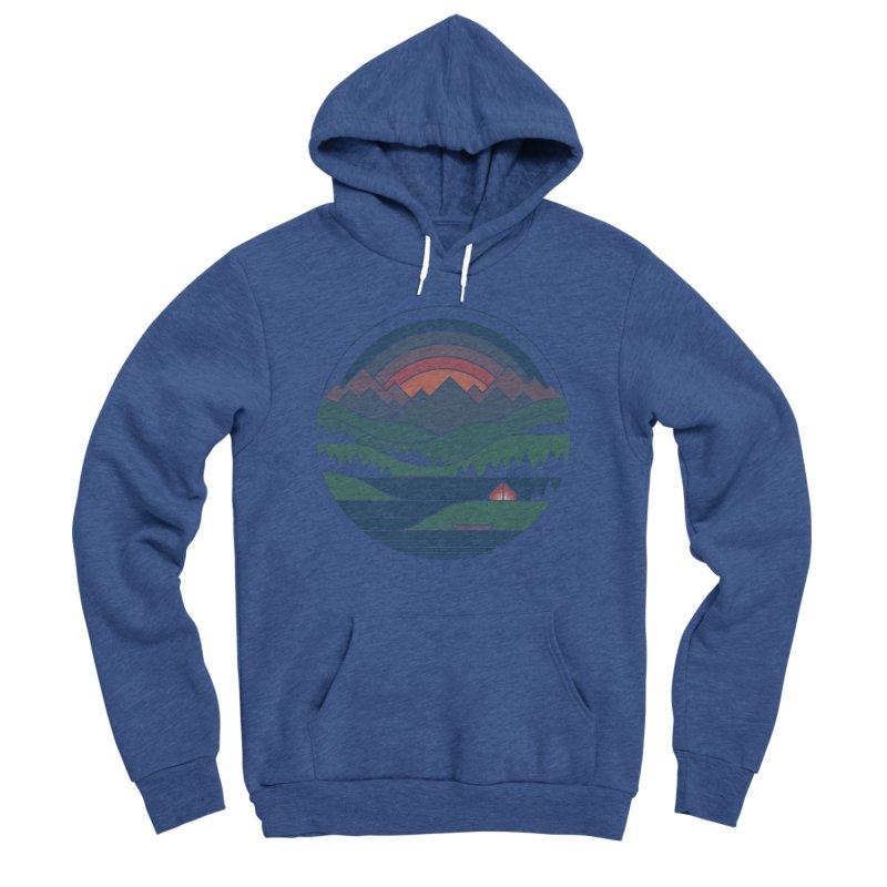 The Lake At Twilight Men's Sponge Fleece Pullover Hoody by thepapercrane's shop