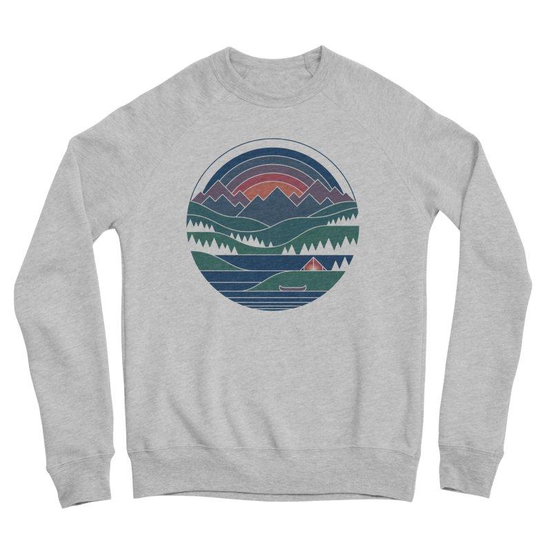 The Lake At Twilight Men's Sponge Fleece Sweatshirt by thepapercrane's shop