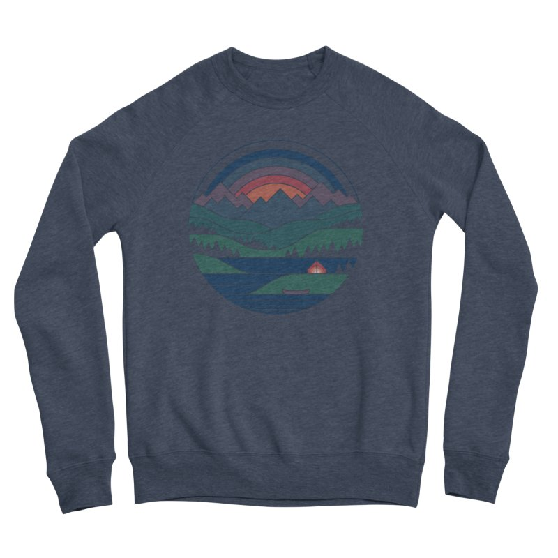 The Lake At Twilight Women's Sponge Fleece Sweatshirt by thepapercrane's shop