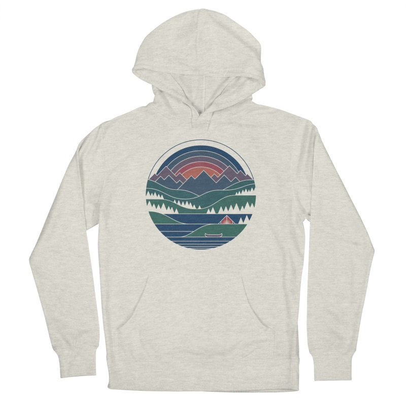 The Lake At Twilight Women's French Terry Pullover Hoody by thepapercrane's shop