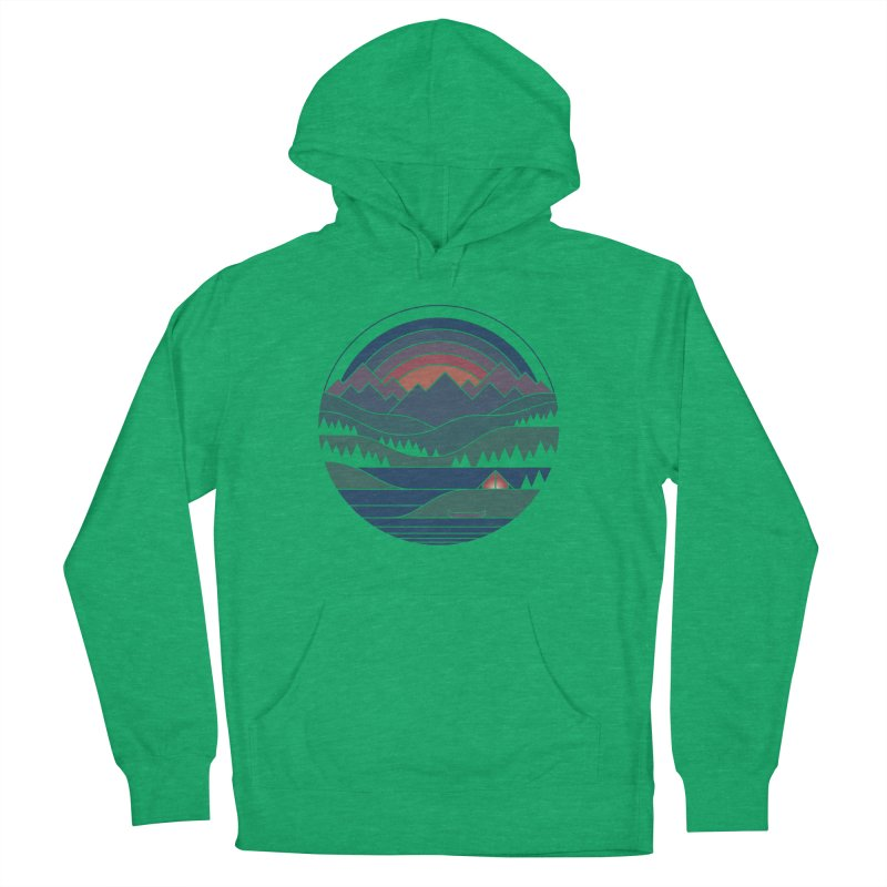 The Lake At Twilight Men's French Terry Pullover Hoody by thepapercrane's shop
