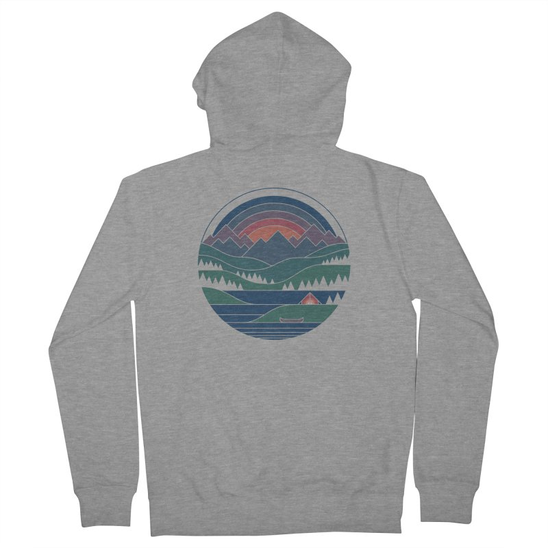 The Lake At Twilight Men's French Terry Zip-Up Hoody by thepapercrane's shop