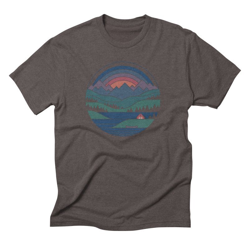 The Lake At Twilight Men's Triblend T-Shirt by thepapercrane's shop