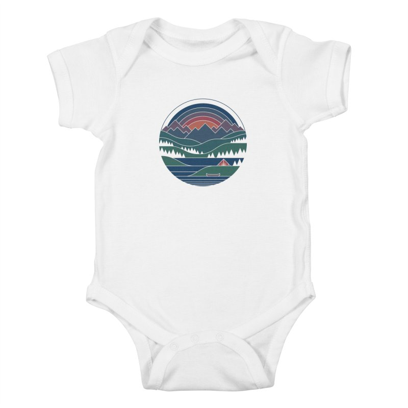 The Lake At Twilight Kids Baby Bodysuit by thepapercrane's shop