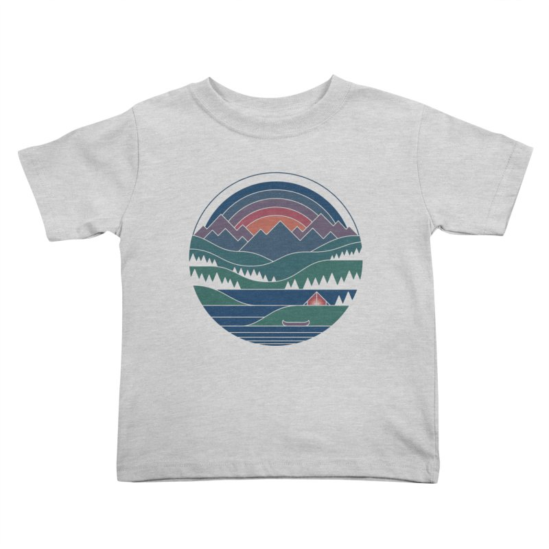 The Lake At Twilight Kids Toddler T-Shirt by thepapercrane's shop