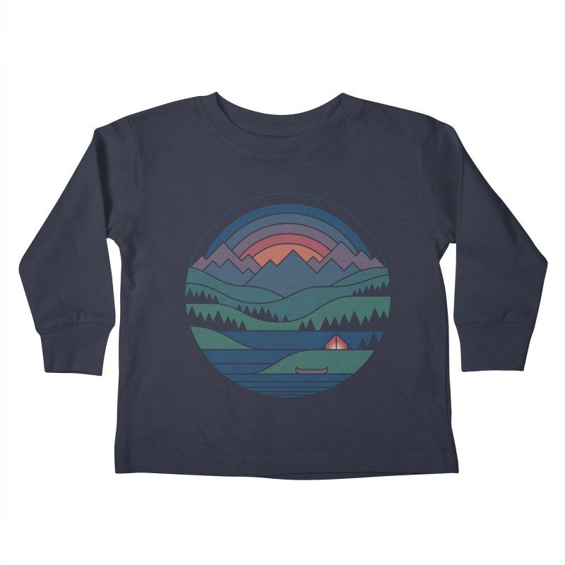 The Lake At Twilight Kids Toddler Longsleeve T-Shirt by thepapercrane's shop