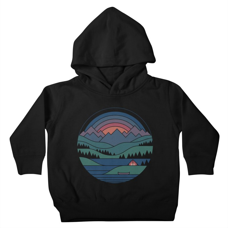 The Lake At Twilight Kids Toddler Pullover Hoody by thepapercrane's shop