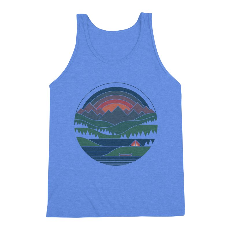The Lake At Twilight Men's Triblend Tank by thepapercrane's shop