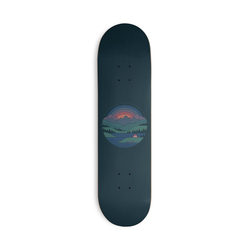 The Lake At Twilight Accessories Deck Only Skateboard by thepapercrane's shop