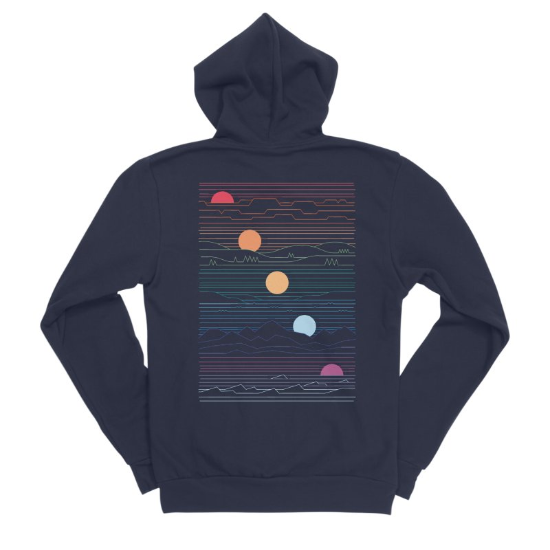 Many Lands Under One Sun Men's Sponge Fleece Zip-Up Hoody by thepapercrane's shop