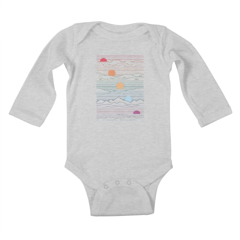 Many Lands Under One Sun Kids Baby Longsleeve Bodysuit by thepapercrane's shop