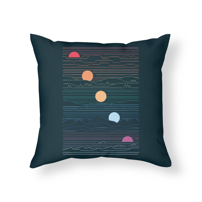 Many Lands Under One Sun Home Throw Pillow by thepapercrane's shop