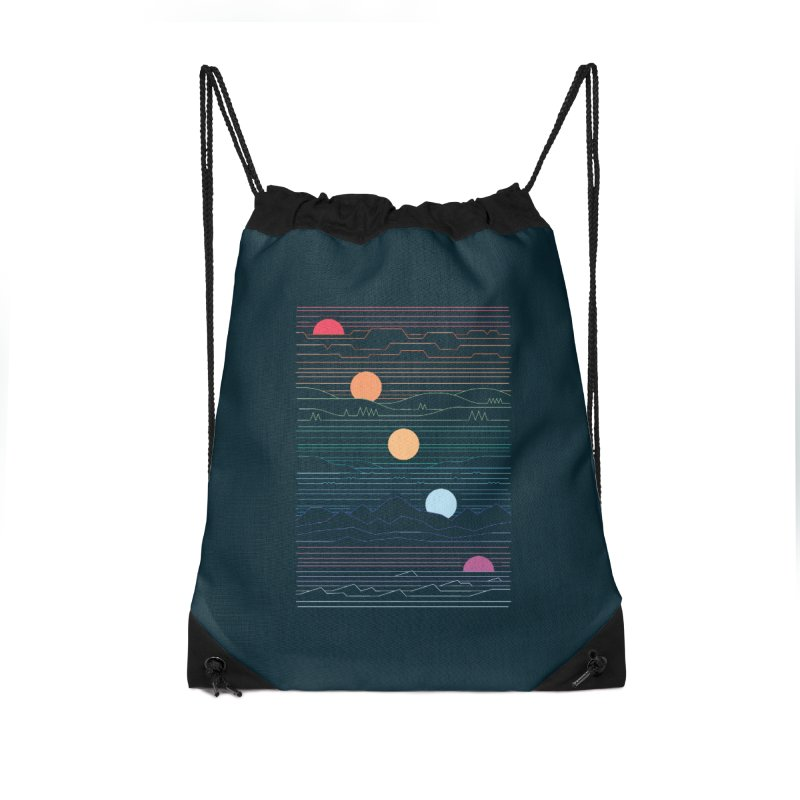 Many Lands Under One Sun Accessories Drawstring Bag Bag by thepapercrane's shop