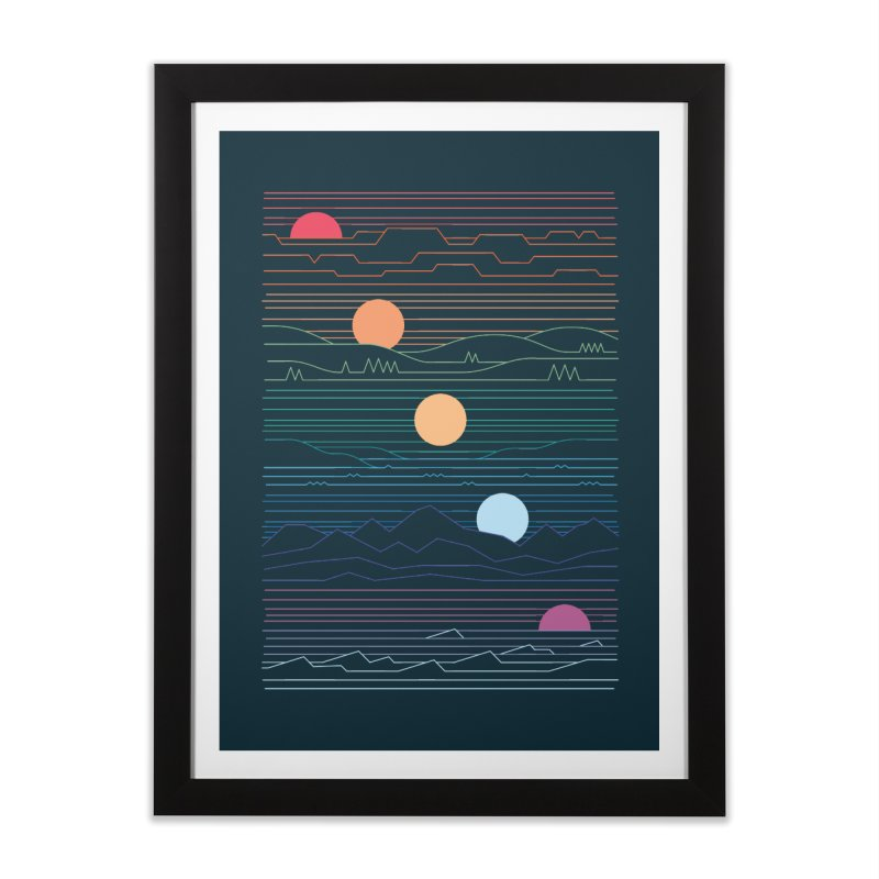 Many Lands Under One Sun Home Framed Fine Art Print by thepapercrane's shop