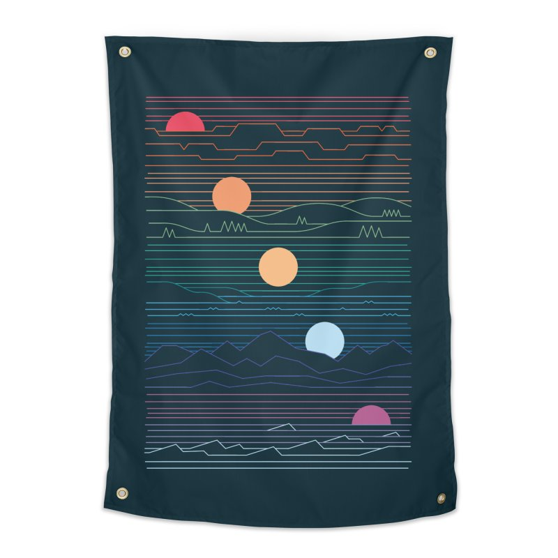 Many Lands Under One Sun Home Tapestry by thepapercrane's shop
