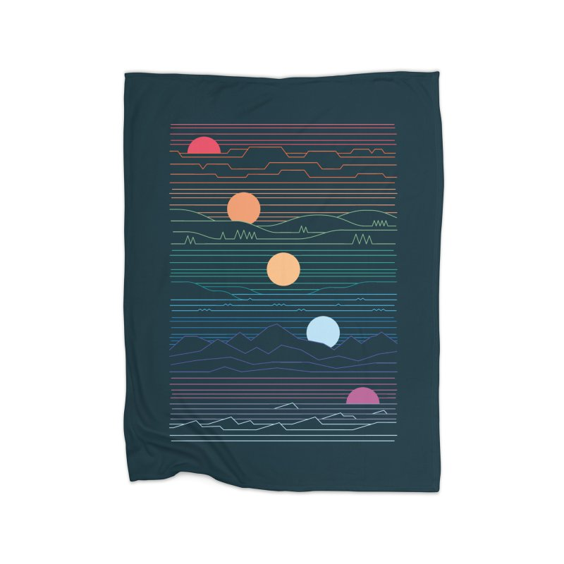 Many Lands Under One Sun Home Fleece Blanket Blanket by thepapercrane's shop