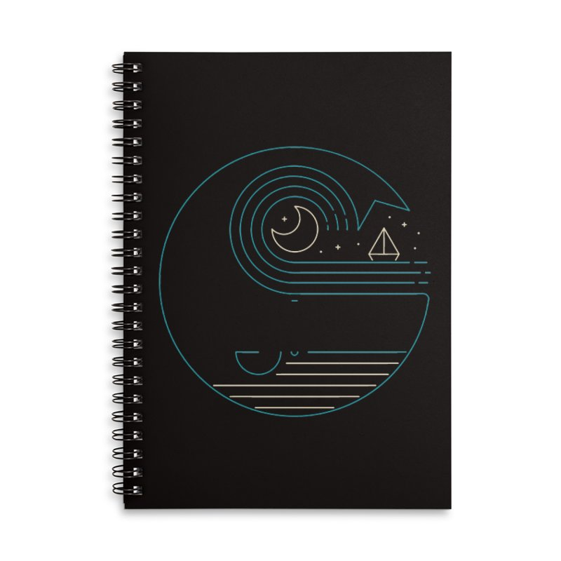 Moonlight Companions Accessories Lined Spiral Notebook by thepapercrane's shop