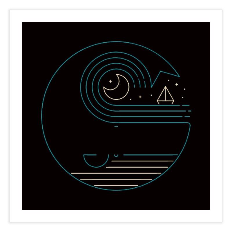 Moonlight Companions Home Fine Art Print by thepapercrane's shop