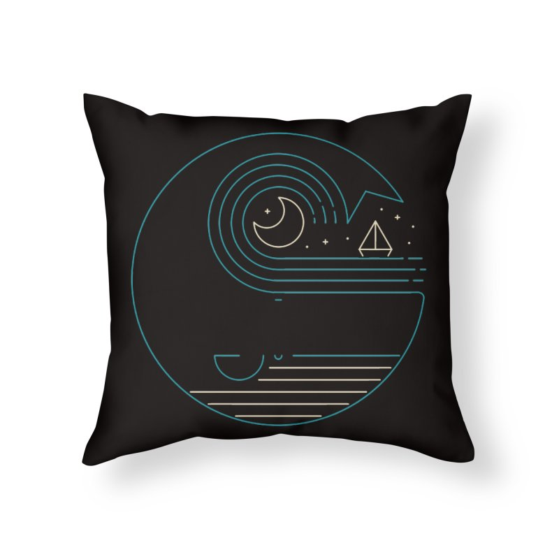 Moonlight Companions Home Throw Pillow by thepapercrane's shop