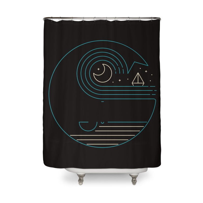Moonlight Companions Home Shower Curtain by thepapercrane's shop