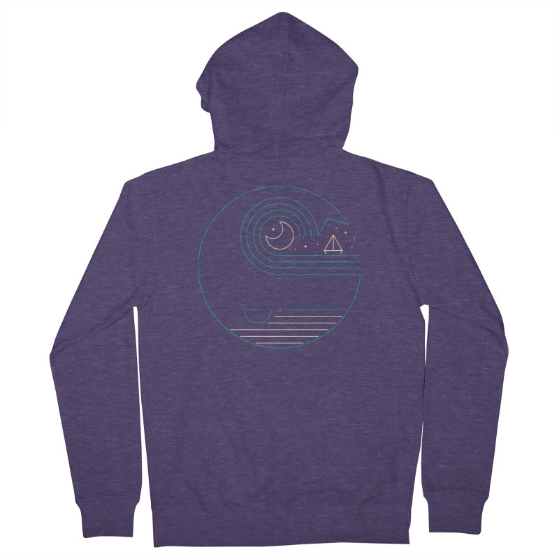 Moonlight Companions Men's French Terry Zip-Up Hoody by thepapercrane's shop