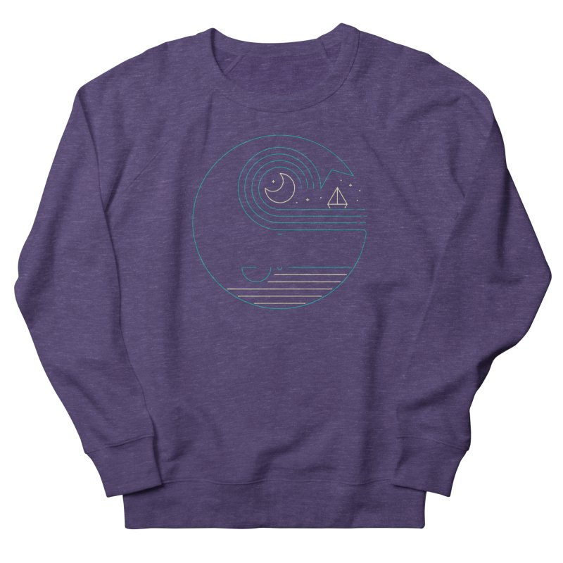 Moonlight Companions Men's French Terry Sweatshirt by thepapercrane's shop